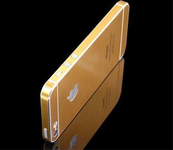 Золотой стикер для iphone 5